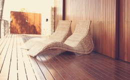 Golden wood spa hammock outdoor house