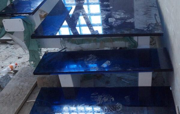 Steel & Glass+LED